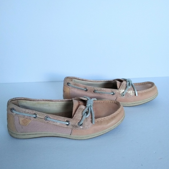 Women's Sperry Top Sider Size 6M Pink Leather Boat